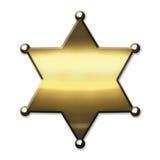 Guld- sheriff Badge vektor illustrationer