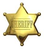 Guld- sheriff emblem Fotografering för Bildbyråer