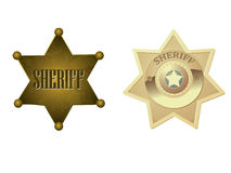 guld- sheriff för emblem Royaltyfri Fotografi