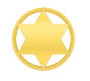 Guld- sheriffstjärna Vektor Illustrationer