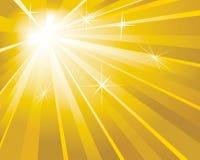 guld- shine för bakgrund Royaltyfri Fotografi