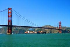 guld- ship för lastport Royaltyfri Foto
