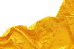 Guld- siden- tyg arkivfoto