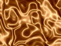 guld- silkeslena waves Arkivbilder