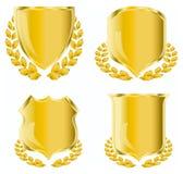guld- sköld Royaltyfri Bild