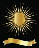 guld- sköld Royaltyfri Fotografi