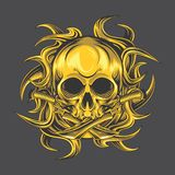 Guld- skalledolk stock illustrationer
