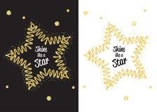 Guld- skimra sken som stjärnan Royaltyfria Foton