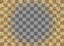 Guld- skimra slumpmässiga fallande konfettier Royaltyfri Foto