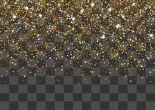Guld- skimra slumpmässiga fallande konfettier Royaltyfria Foton