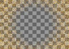 Guld- skimra slumpmässiga fallande konfettier Royaltyfri Fotografi