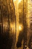 Guld skimrar på isen. Arkivfoto