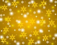 Guld- skinande bakgrund för jul Royaltyfri Foto