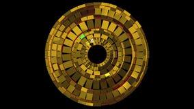 Guld- skinande cirklar lager videofilmer