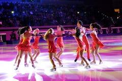 guld- skinande skridsko för 2011 utmärkelseblad Royaltyfria Foton