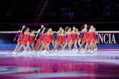 guld- skinande skridsko för 2011 utmärkelseblad Royaltyfri Foto