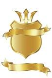 guld- sköld Arkivbild