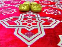 guld- skor Arkivbilder