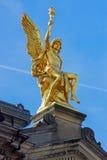 Guld- skulptur i Dresden Royaltyfri Foto