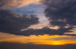 guld- sky Royaltyfria Foton