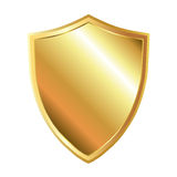 Guld- skydda Royaltyfria Bilder