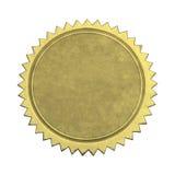 Guld- skyddsremsa för tom stjärna arkivfoto