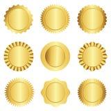 Guld- skyddsremsa-/stämpelsamling Royaltyfri Bild