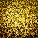 Guld- slumpmässig formad bakgrund Royaltyfri Fotografi