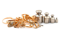 Guld- smycken Royaltyfri Fotografi