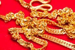 Guld- smycken Royaltyfria Bilder