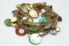Guld- smycken kedjar Arkivfoto