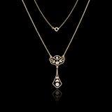 Guld- smyckenhalsband fotografering för bildbyråer