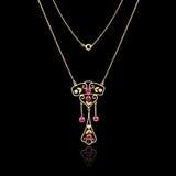 Guld- smyckenhalsband Arkivbilder