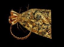 guld- smyckenpåse för bangle Royaltyfria Bilder