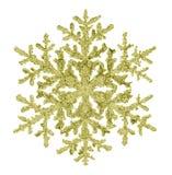 Guld- snöflinga Fotografering för Bildbyråer