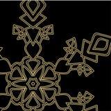 Guld- snöflinga på en svart bakgrundsnärbild också vektor för coreldrawillustration vektor illustrationer