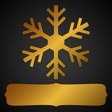 Guld- snöflingaram royaltyfri foto