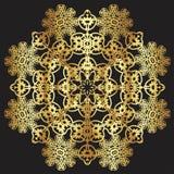 Guld snör åt modellen på en svart bakgrund Royaltyfria Bilder