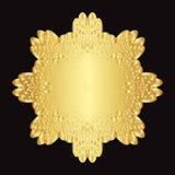 Guld snör åt modellen på en svart bakgrund Royaltyfri Foto