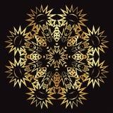 Guld snör åt modellen på en svart bakgrund Royaltyfria Foton