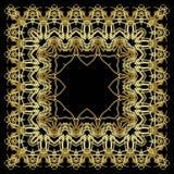 Guld- snöra åt modellen royaltyfri illustrationer