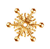 guld- snowflake Royaltyfria Foton