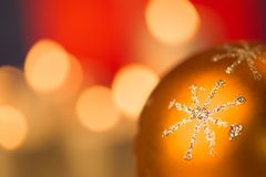 guld- snowflake Royaltyfri Fotografi