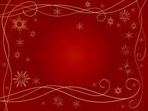 guld- snowflakes 3d Royaltyfria Bilder