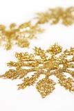 guld- snowflakes Arkivbilder