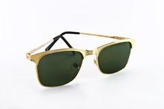guld- solglasögon Royaltyfri Bild