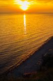 guld- solnedgång Royaltyfri Foto