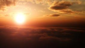 Guld- solnedgång arkivfilmer