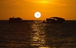 guld- solnedgång Royaltyfri Bild