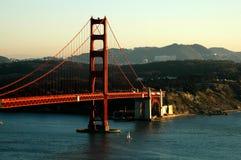 guld- solnedgång för port fotografering för bildbyråer